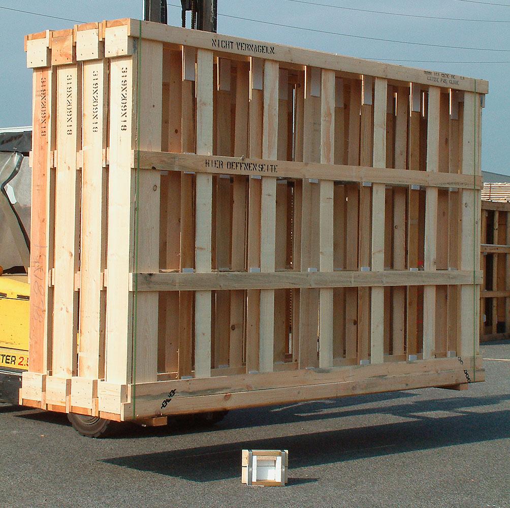 Lattenkisten (Glas-Transportverpackung)
